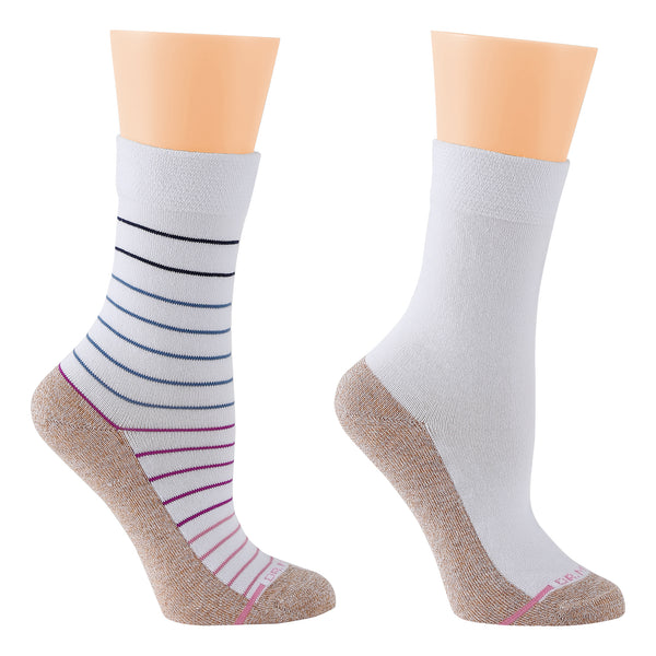 Pin Stripe | Comfort Top Socks For Women