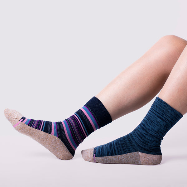 Multi Stripe | Comfort Top Socks For Women