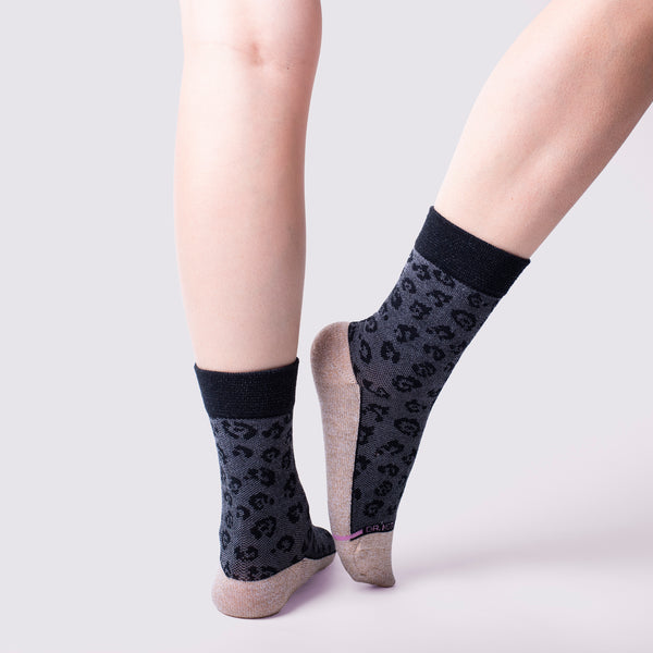 Leopard Texture | Comfort Top Socks For Women