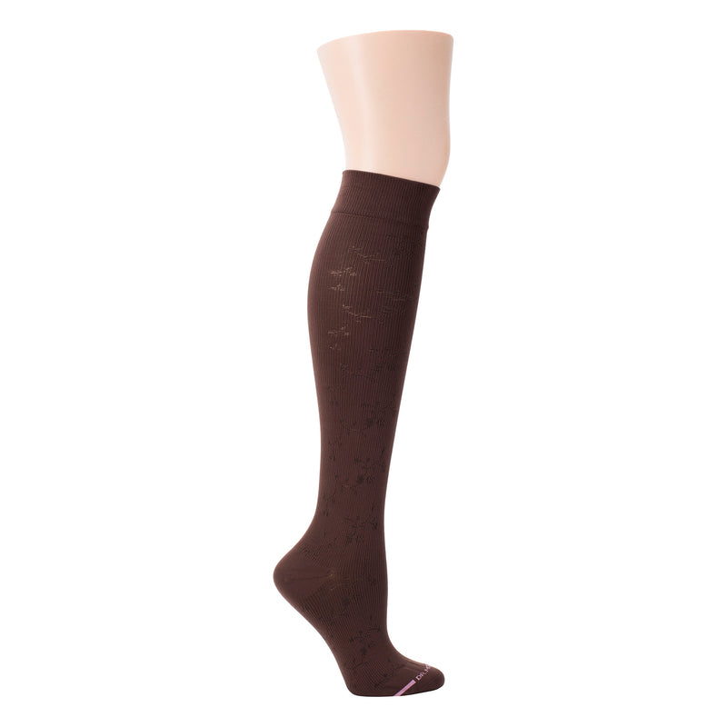 Floral Texture | Knee-High Compression Socks For Women