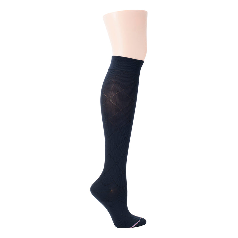 Diamond Pattern | Knee-High Compression Socks For Women