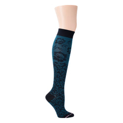 Damask Floral | Knee-High Compression Socks For Women