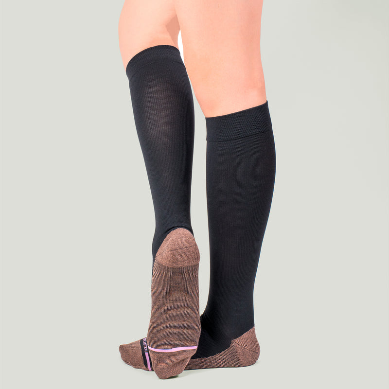 Solid Copper Infused | Knee-High Compression Socks For Women