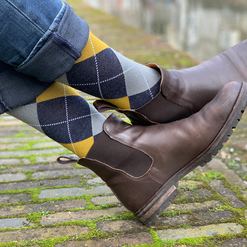 Argyle | Knee-High Compression Socks For Men