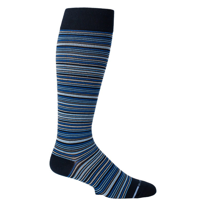 Multi Thin Stripe | Knee-High Compression Socks For Men