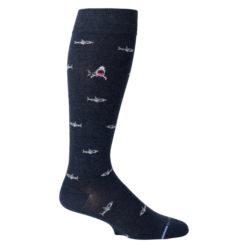 Shark | Knee-High Compression Socks For Men