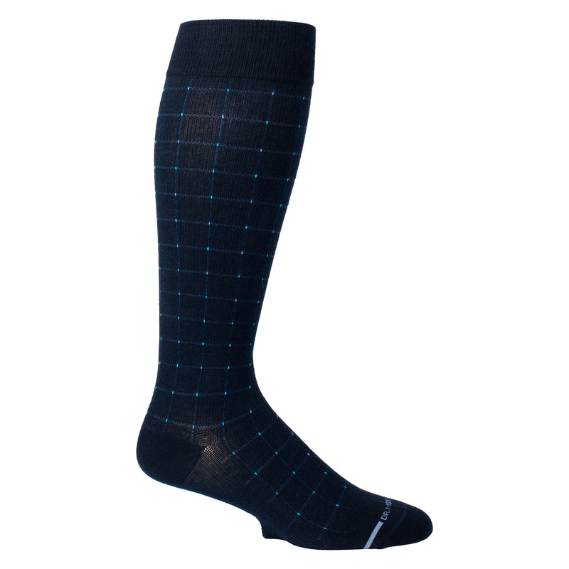 Pin Dot Grid | Knee-High Compression Socks For Men