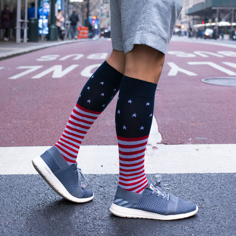 Stars Stripes | Knee-High Compression Socks For Men