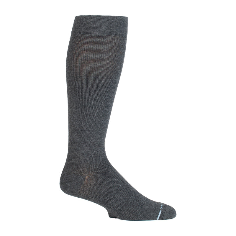 Solid Cotton Blend | Knee-High Compression Socks For Men