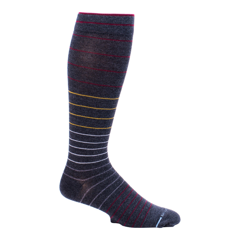 Jaquard Stripe | Knee-High Compression Socks For Men