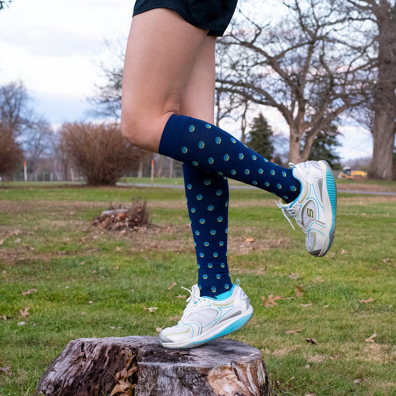 Striped Dots | Athleisure Compression Socks For Men & Women