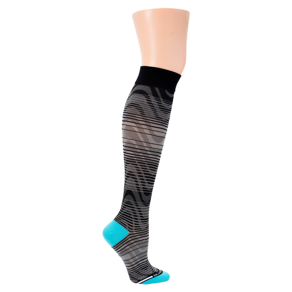 Ombre Waves | Athleisure Compression Socks For Men & Women