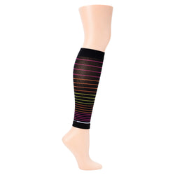 Multi Stripe | Compression Calf Sleeves For Men & Women