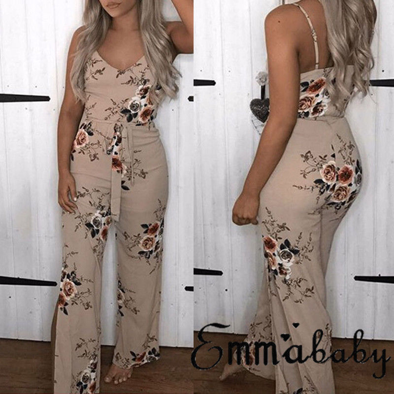 Womens Clubwear Playsuit Bodysuit Party Jumpsuit