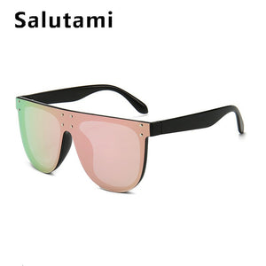 Oversized Pink Mirror Women Sunglases