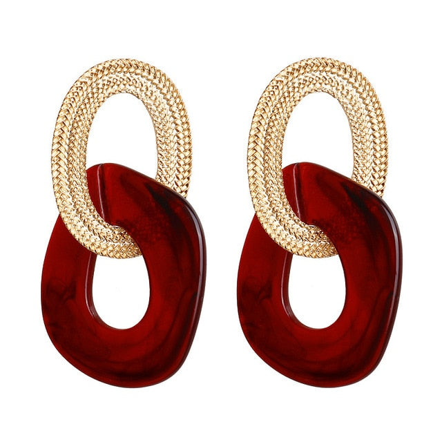 Women Statement Pendant Earrings