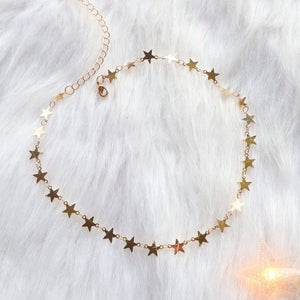 Fashion Gothic Copper Stars Necklace