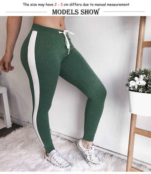 Sweatpants Patchwork Design Color  Sport Streetwear