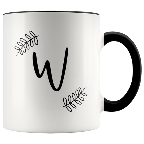 Monogram Coffee Mug - W
