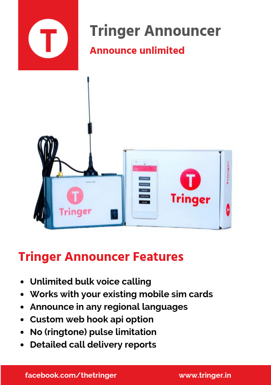 Tringer Announcer - announce unlimited