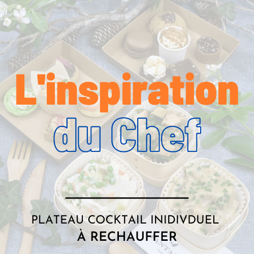 Plateau cocktail individuel - Inspiration du chef (à réchauffer)