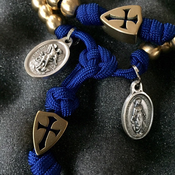 The Mighty Heel of Our Lady Full-Size Paracord Rosary + Pouch