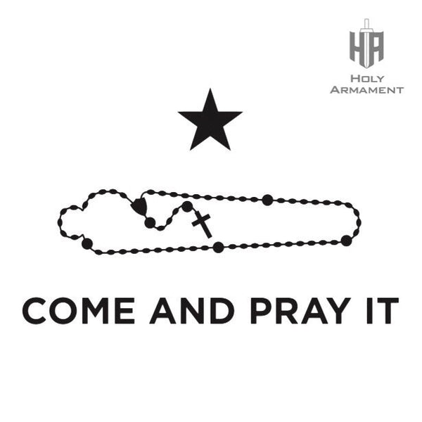Come and Pray It T-Shirt (Military Green/Black Ink)