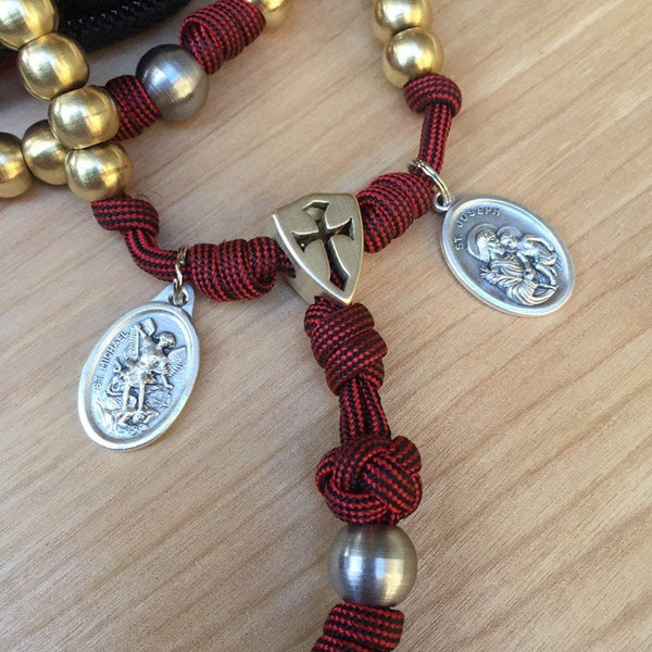 The Humble Guardian Full-Size Paracord Rosary + Pouch
