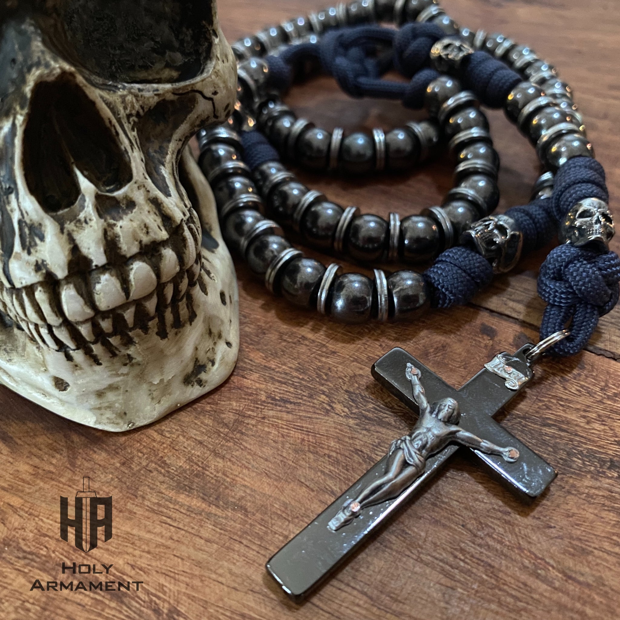 Memento Mori Full-Size Paracord Rosary + Pouch (Special Release)