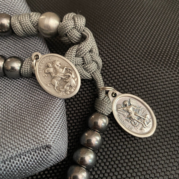 Tactical Collection (Second Edition) Full-Size Paracord Rosary + Pouch