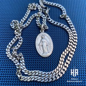 Miraculous Medal Pendant Chain