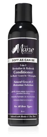 Soft As Can Be Revitalize & Refresh 3-in-1 Co-Wash, Leave In, Detangler - Beauty by Promise