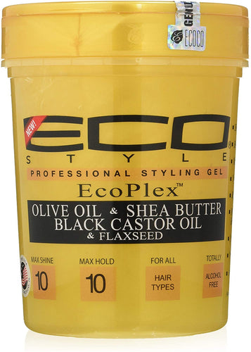 Eco Style Gold Olive Oil & Shea Butter & Black Castor Oil & Flaxseed