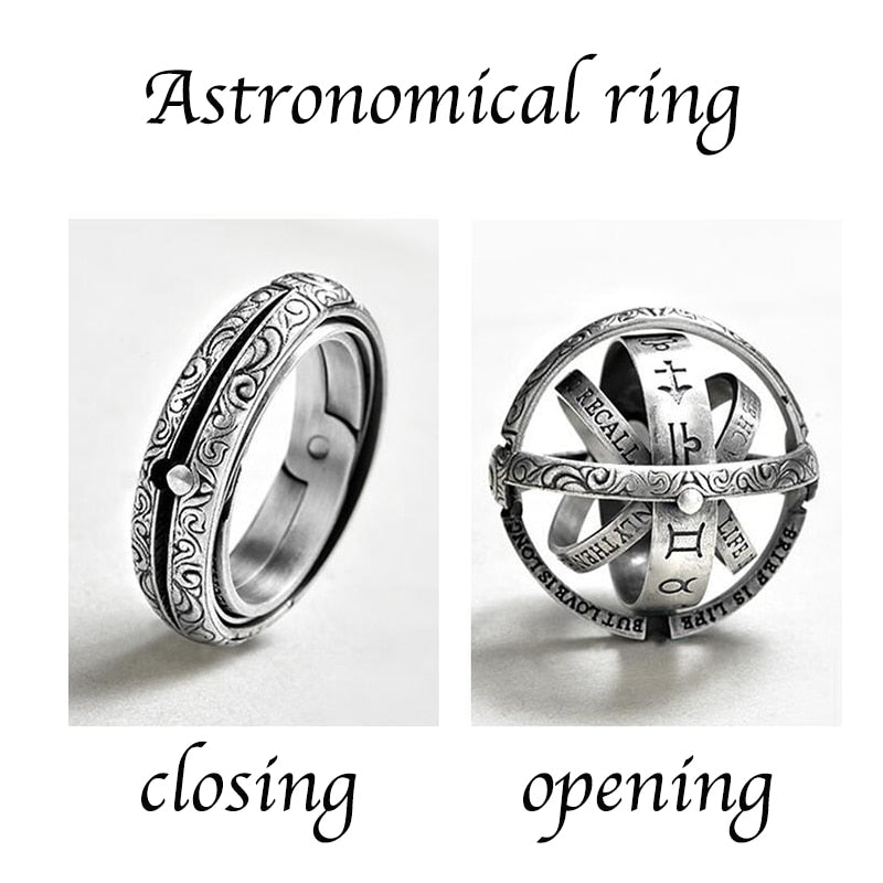 Silver Astronomical Ring