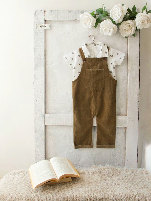 Olive Gender Neutral Dungaree Pants