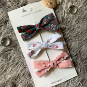 Mix & Match Pack of 3 Bows Clips