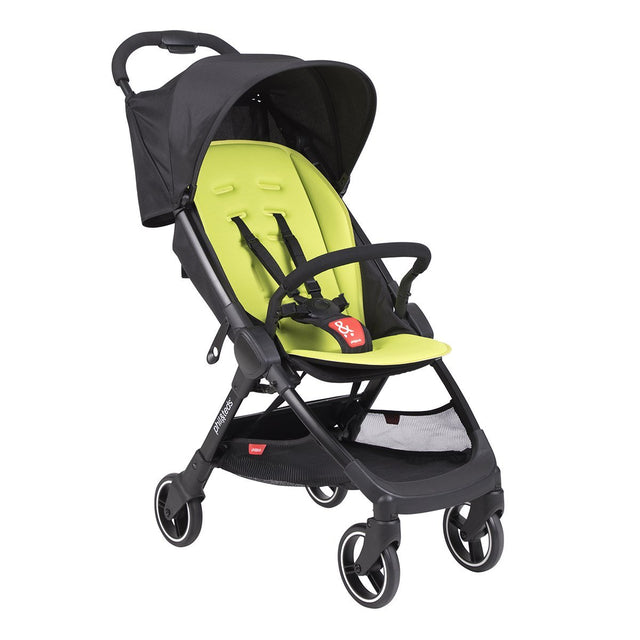 phil&teds go buggy v1 award winning compact lightweight stroller in apple green 3qtr view_apple
