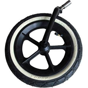phil&teds 12 inch complete front wheel_black