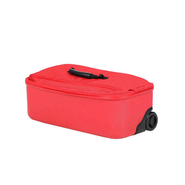phil&teds travel bag compactly folded 3/4 view_red