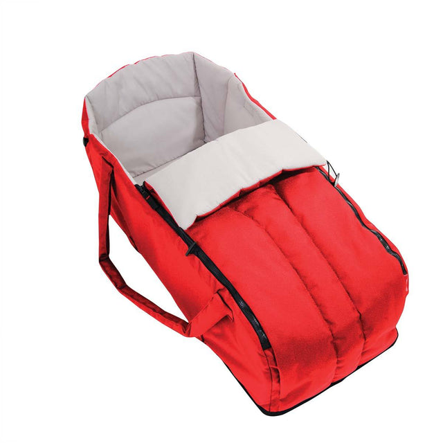 phil&teds cocoon carrycot in red 3/4 view_chilli