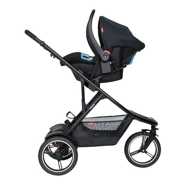 phil&teds dash inline buggy with alpha travel system
