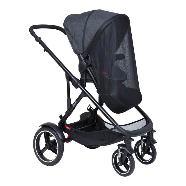 phil&teds voyager main seat and double kit sun mesh cover on voyage buggy 3/4 view_default