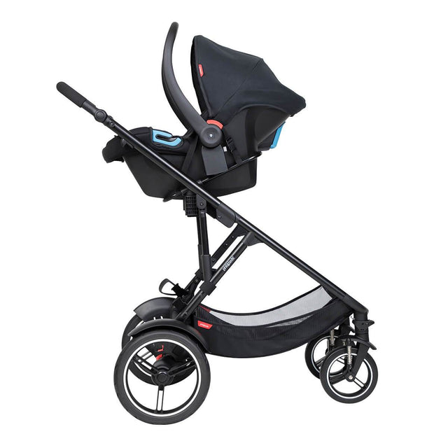 phil&teds voyager inline buggy with alpha travel system