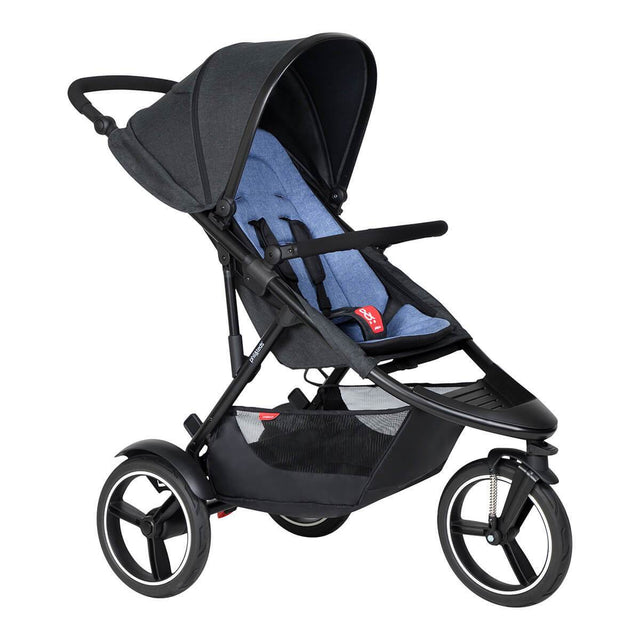 phil&teds dash inline buggy in sky blue colour