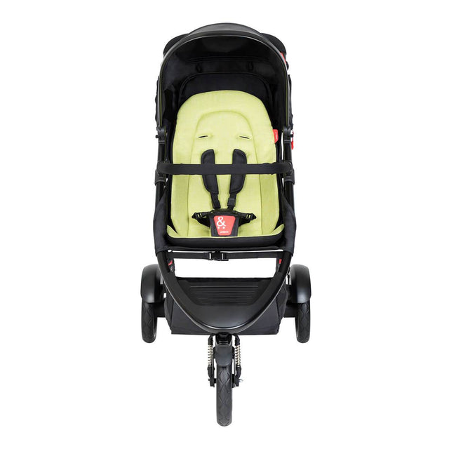phil&teds dot buggy with apple liner front view_apple