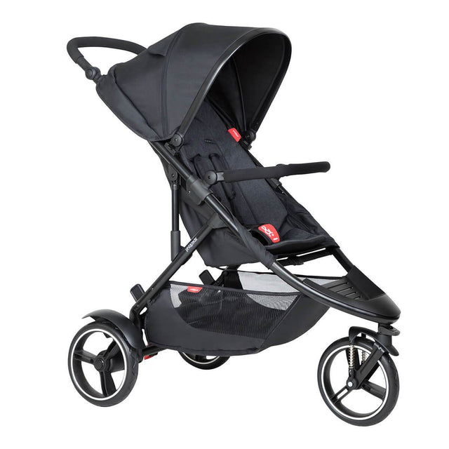 phil&teds dot inline buggy in black colour