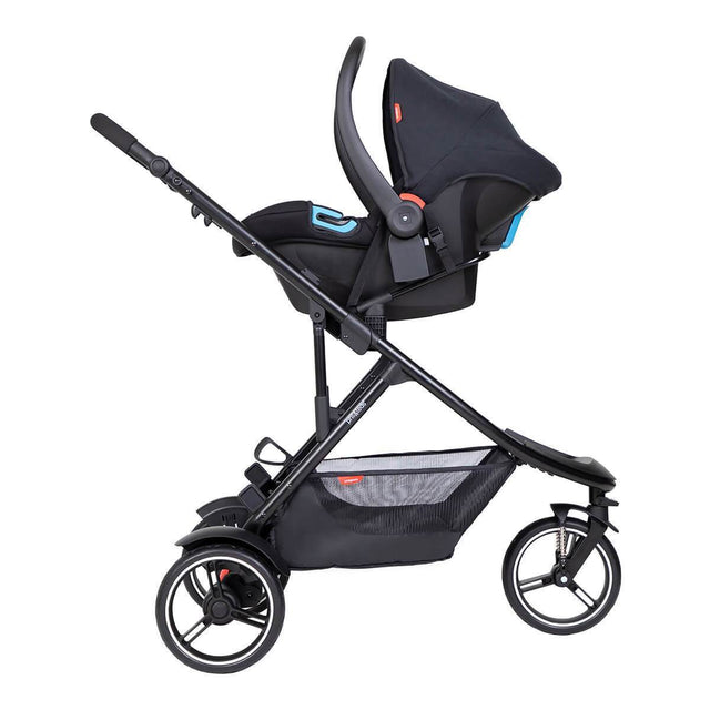 phil&teds dot inline buggy with alpha travel system_black