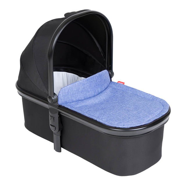 phil&teds snug carrycot with lid 3/4 view_black
