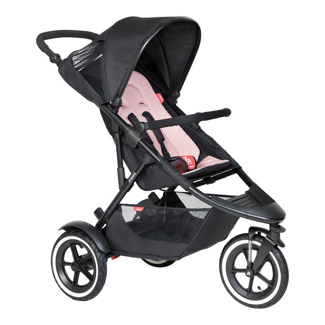 phil&teds inline sport buggy in blush pink colour