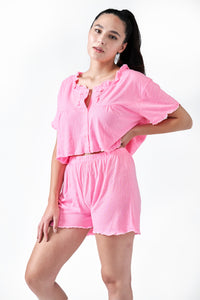 The Camille Pajama Set | Pink